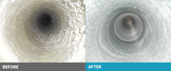 Laundry Duct Cleaning Before and After